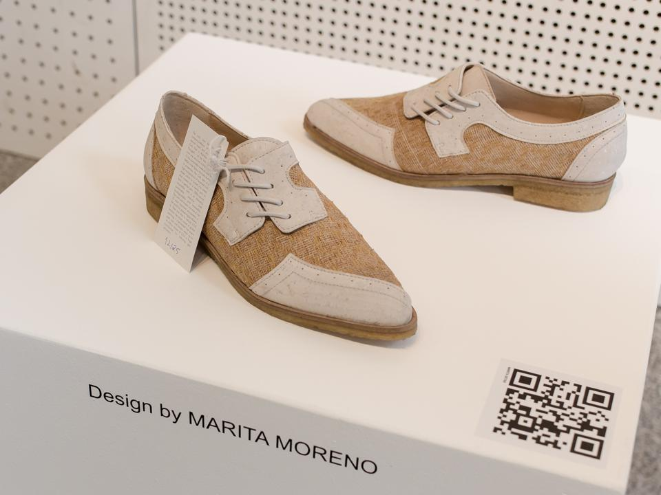 Marita Morena shoe made with cork material on the iTeshStyle showroom floor at MODtissimo.