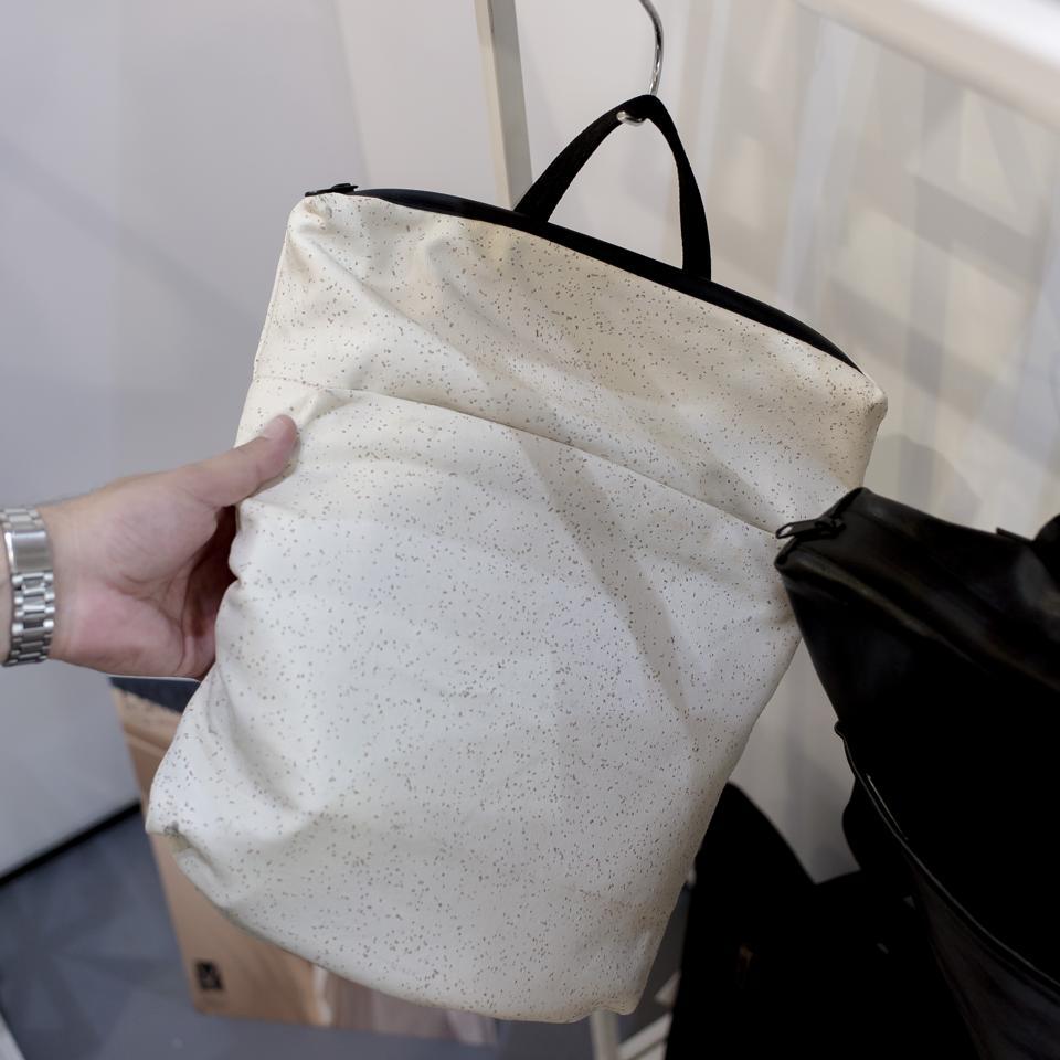 Marita Morena bag made with cork textured material at MODtissimo.