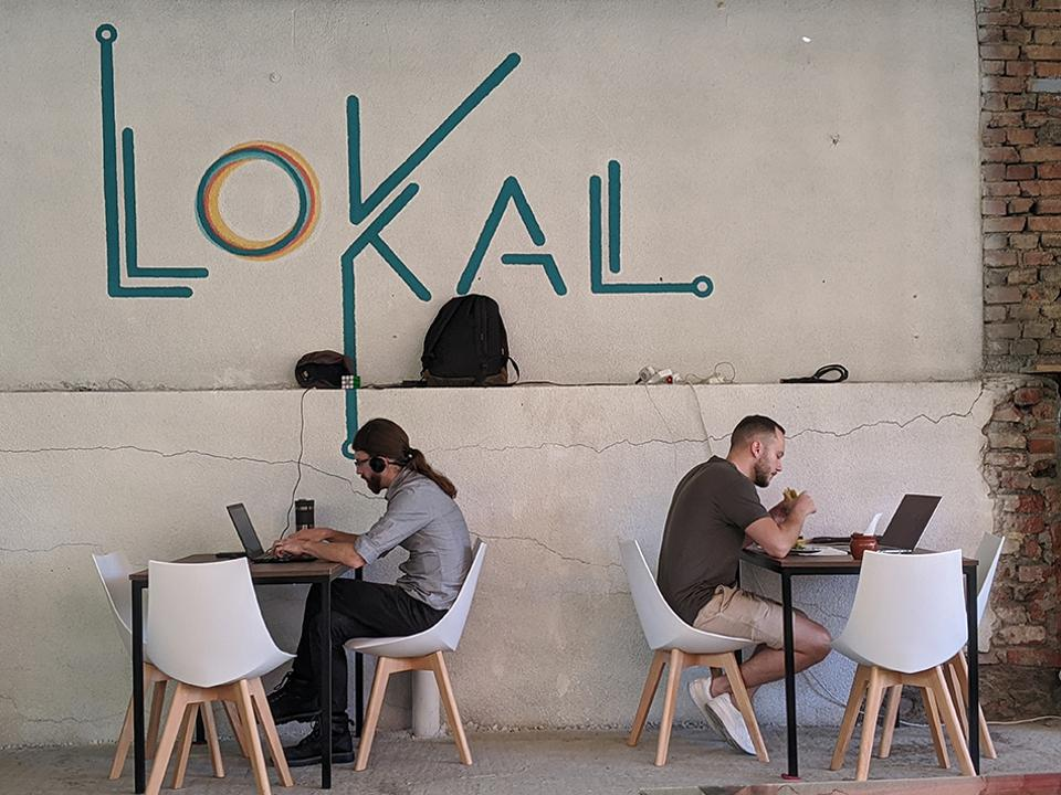 Lokal Tbilisi, one of the city's many great co-working spaces for digital nomads.