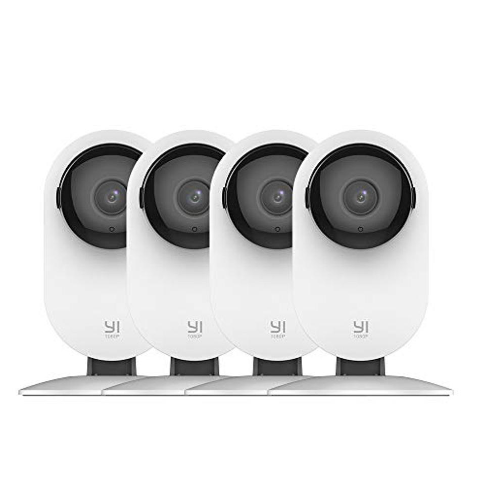 YI 4pc Home Camera, 1080p Wireless IP Security Monitoring System