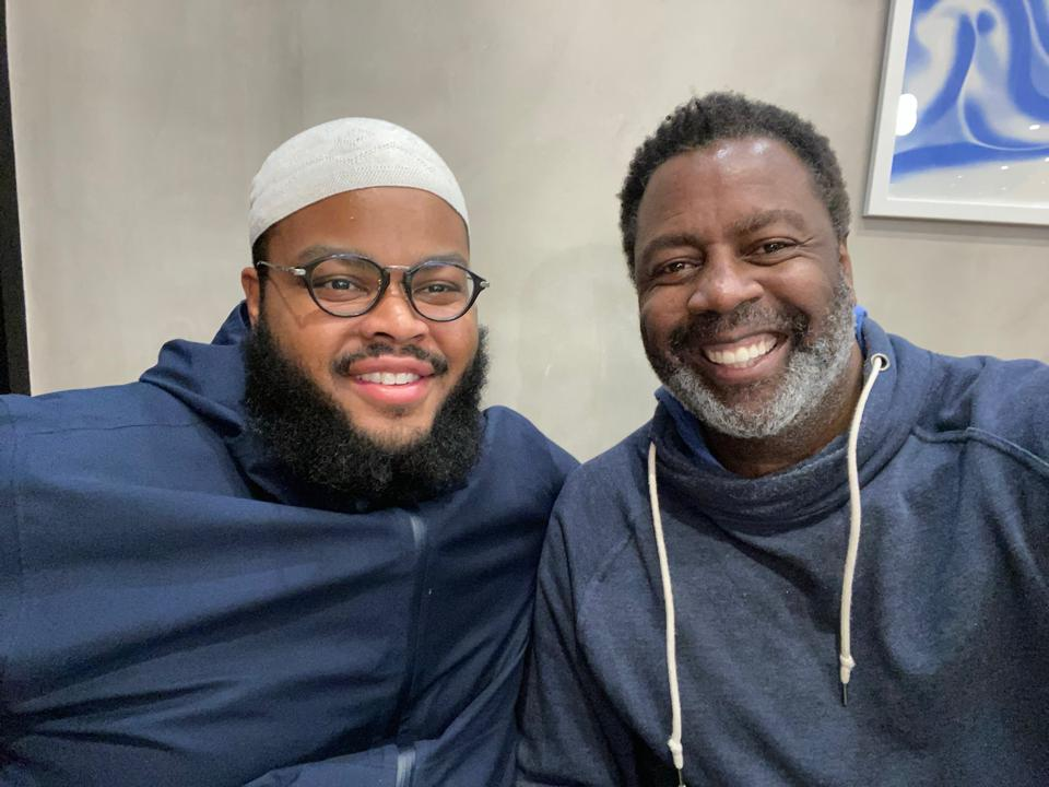 Ibraheem Basir - founder and CEO of A Dozen Cousins and Project Potluck - with Anton Vincent, President of Mars Wrigley and long time mentor of his.