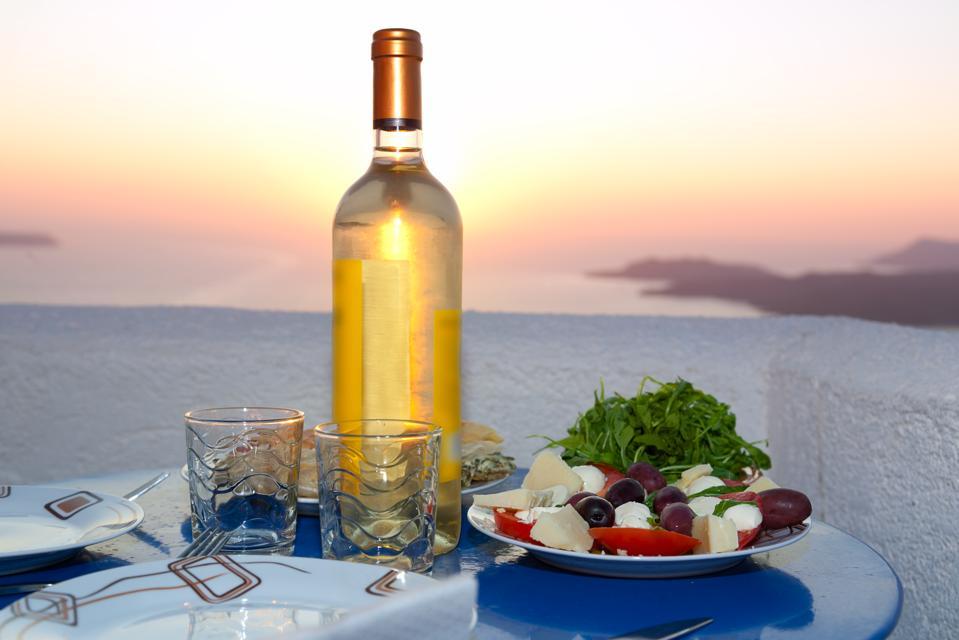 Sunset dinner, Santorini