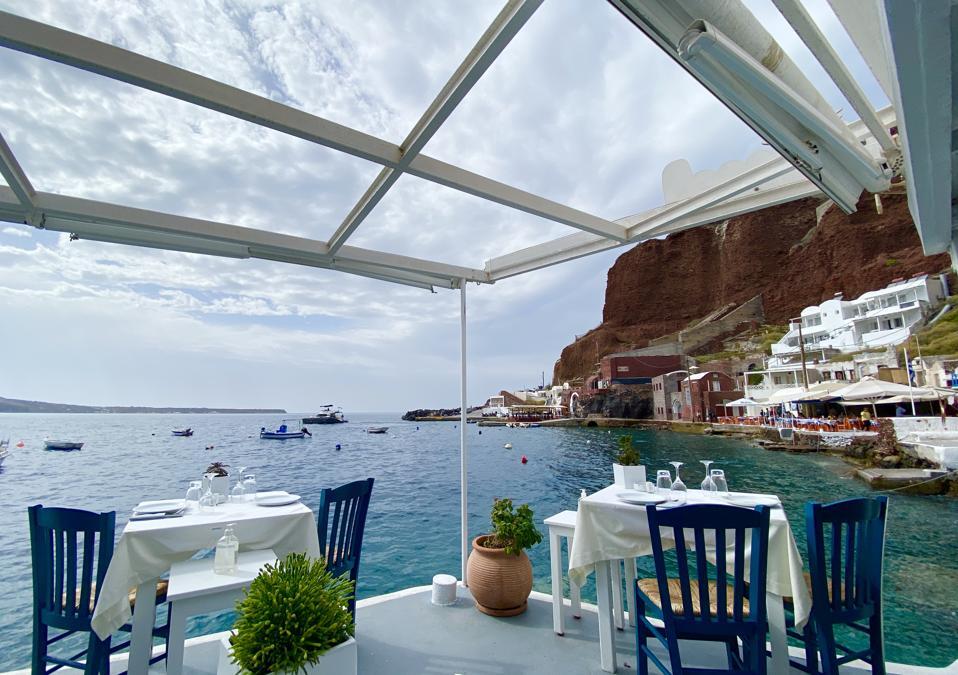 A restaurant at Ammoudi Bay, Santorini