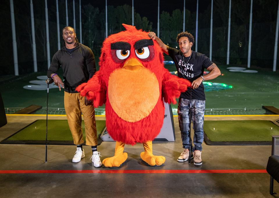 Topgolf new Angry Birds collaboration with Roddy White and Ludacris