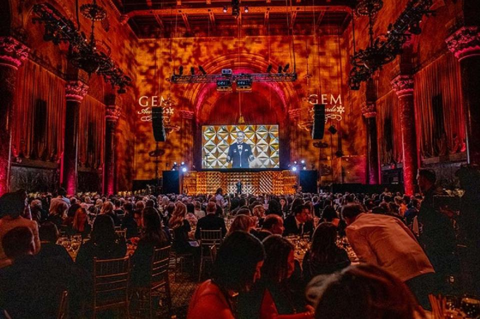 A view of the 2020 Gem Awards at Cipriani 42nd Street