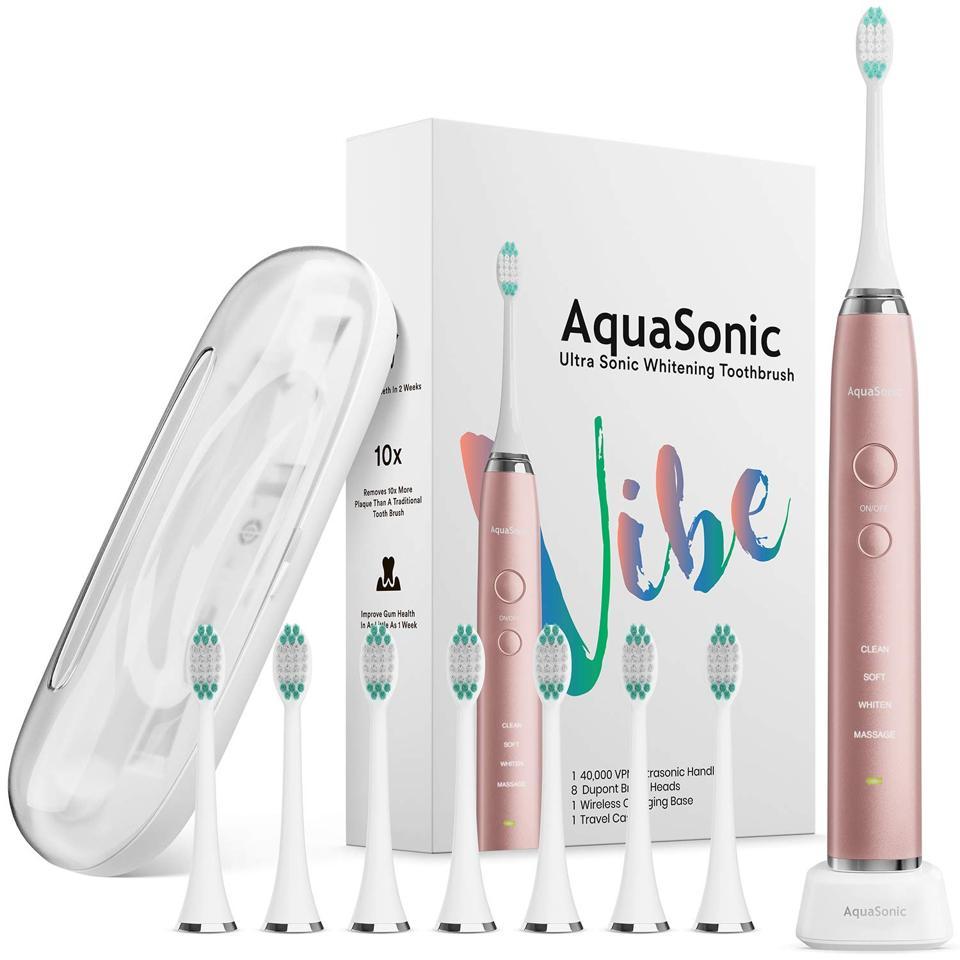 AquaSonic series VIBE Ultra whitening pink electric toothbrush