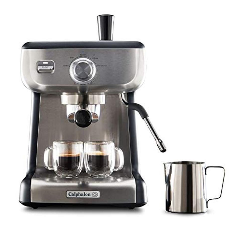 Calphalon BVCLECMP1 Temp iQ espresso machine with stainless steel steam rod
