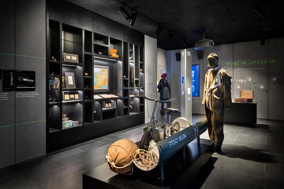 SPYSCAPE showcases a plethora of real equipment, uniforms, and other items of importance used by spies of the past.
