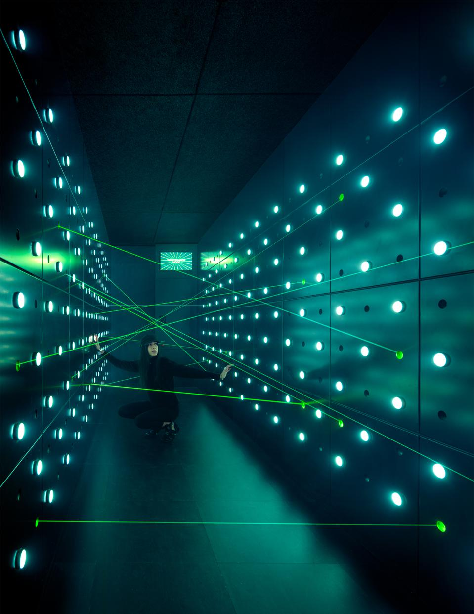 No spy museum would be complete without a laser room!