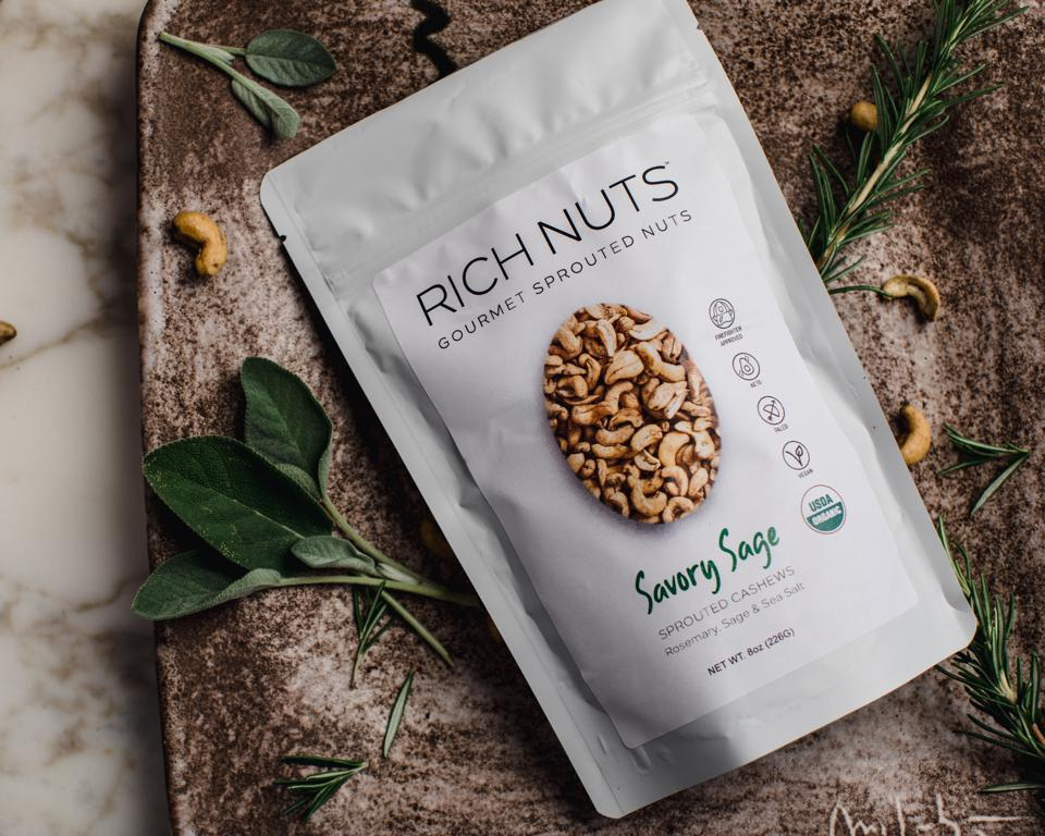 Rich Pauwels and Samantha Coker started making these sprouted nuts in their home.