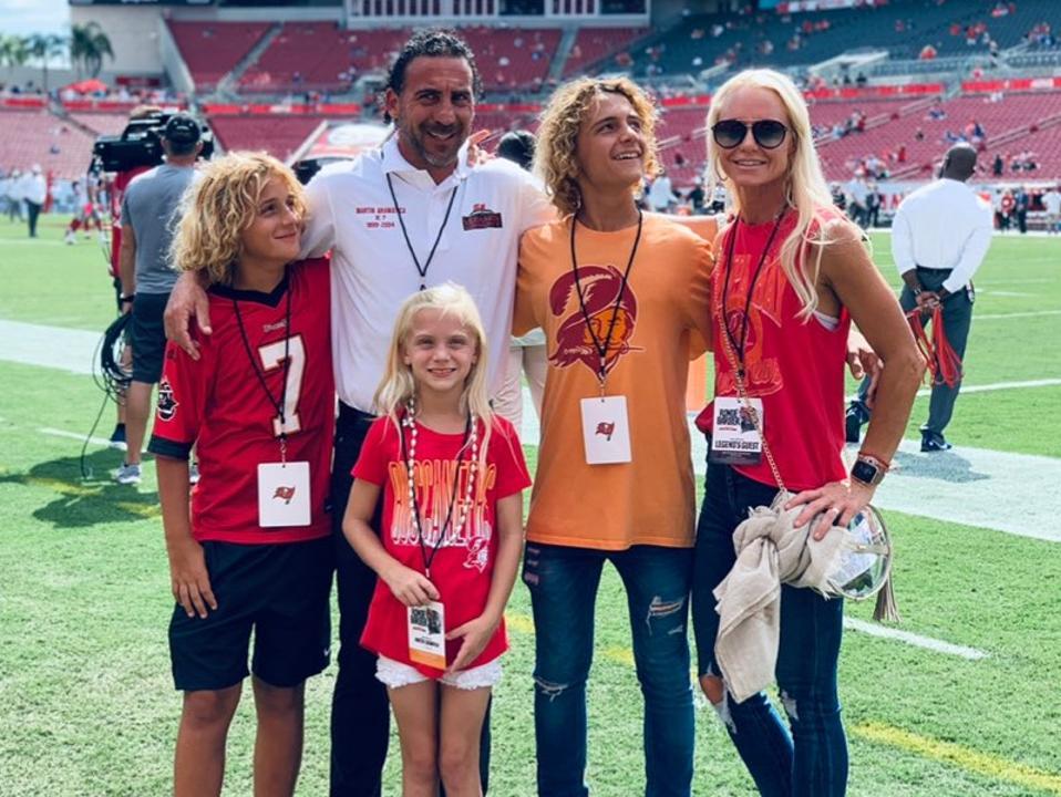 Martin Gramatica and family at Raymond James Stadium in 2019.