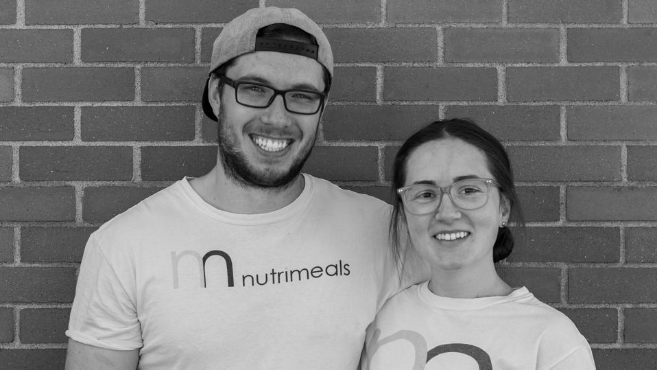 Nutrimeals co-owners Grace Clark and Samuel Hale.