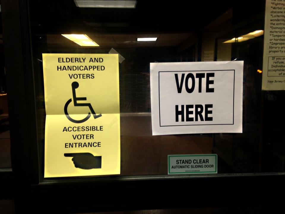 U.S. Election Voting polling station sign