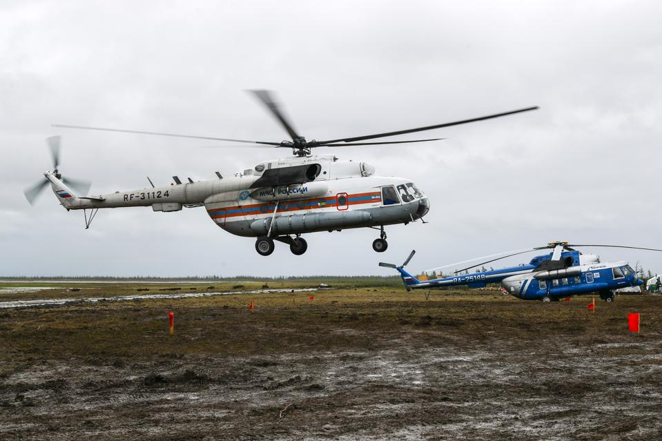 Fuel spill clean-up in Norilsk, Russia