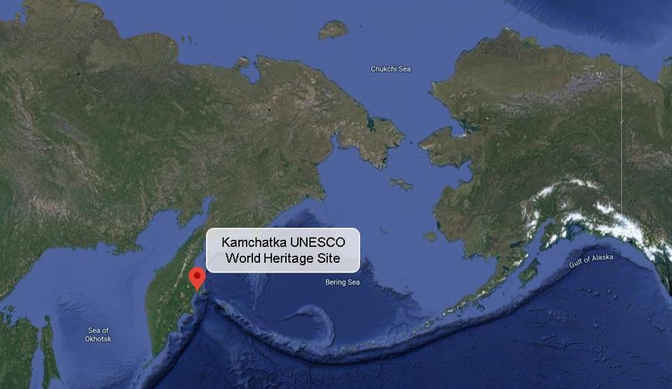 Kamchatka UNESCO World Heritage Site on the coast of the Bering Sea, across from Alaska