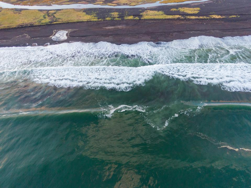 6 Oct: Aerial view of the site where an ecological disaster occurred in the Kamchatka Peninsula, North-East of Russia. Image taken by drone for Greenpeace.