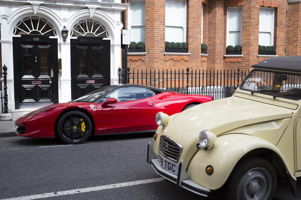 UK - West London - Wealth in the exclusive area of Sloane Square Chelsea
