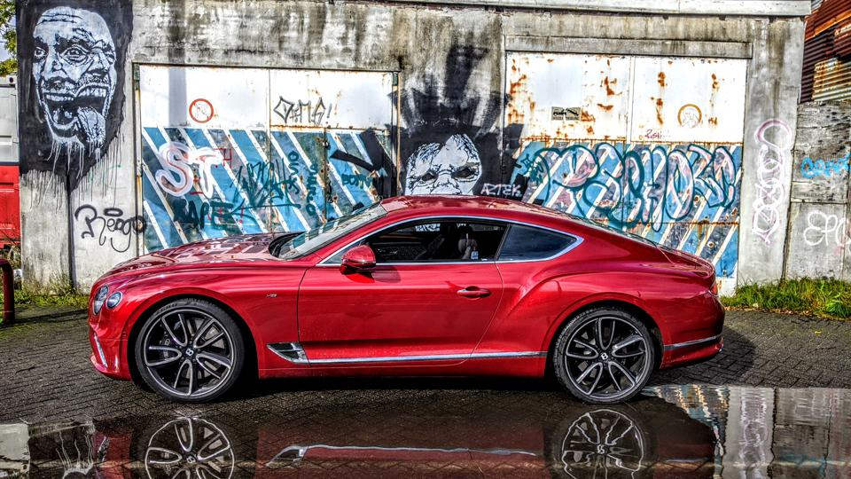 The contrast between beauty and graffiti brings alive the GT