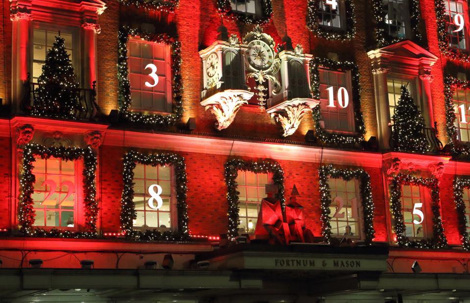 London's upmarket department store Fortnum & Mason in...