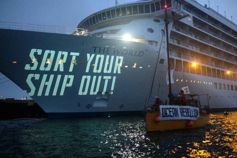 Ocean Rebellion Demonstration Against A Polluting Cruise Ship