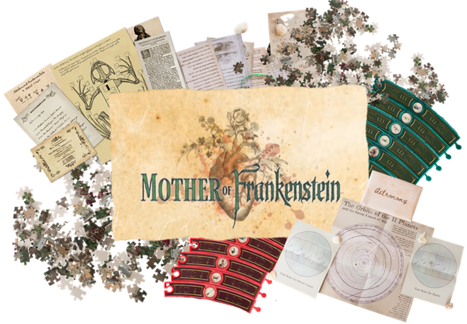 The contents of the Mother of Frankenstein experience.