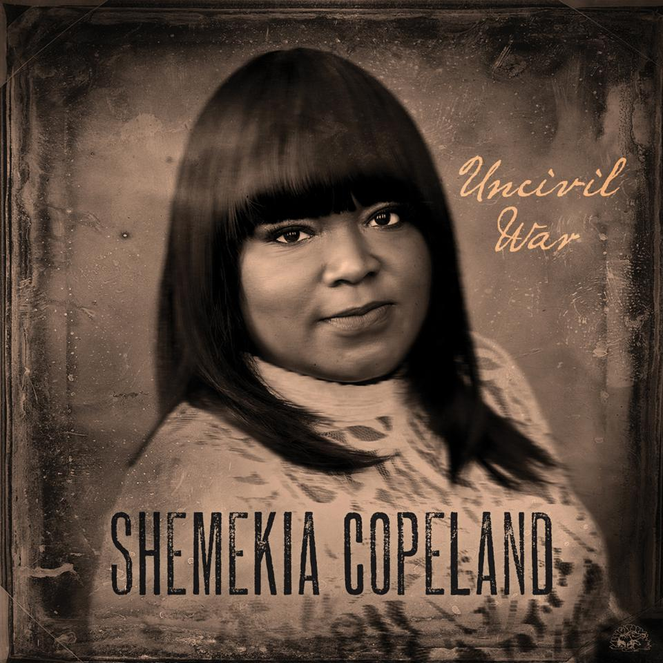 Shemekia Copeland's new album cover in black and white