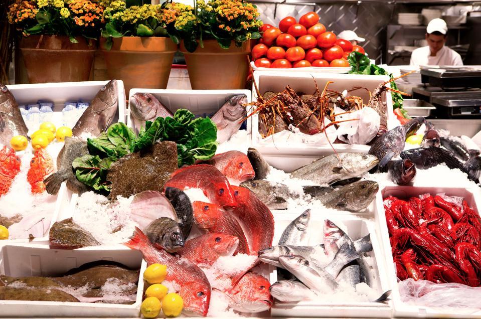 Fresh seafood at Estiatorio Milos.