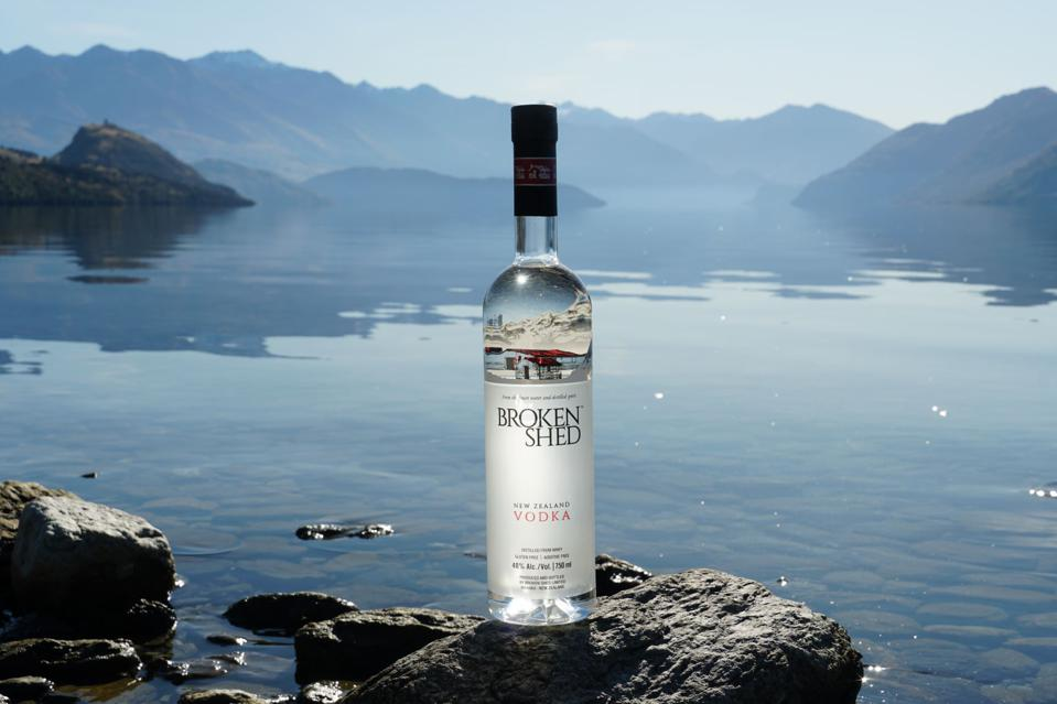 New Zealand is the birthplace of Broken Shed Vodka.