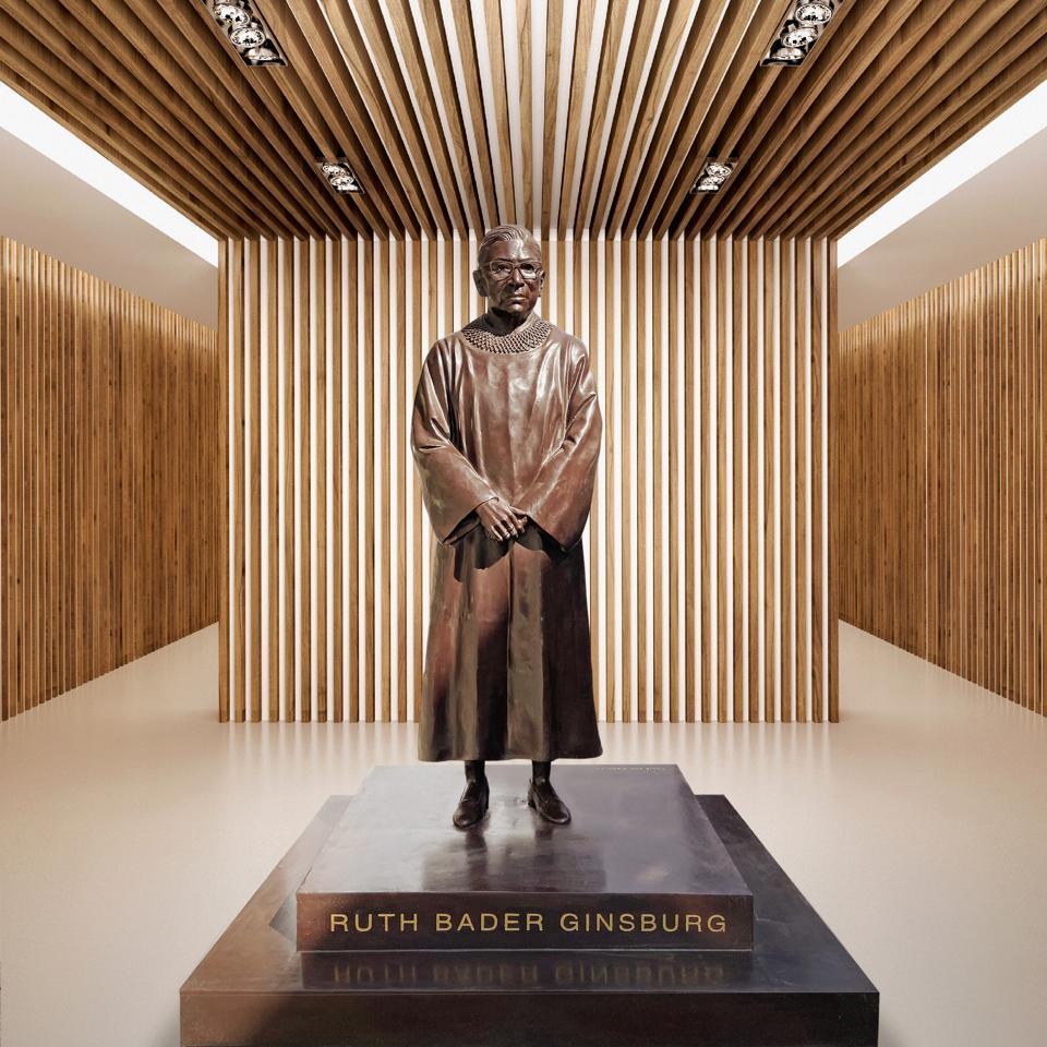 Ruth Bader Ginsburg bronze statue