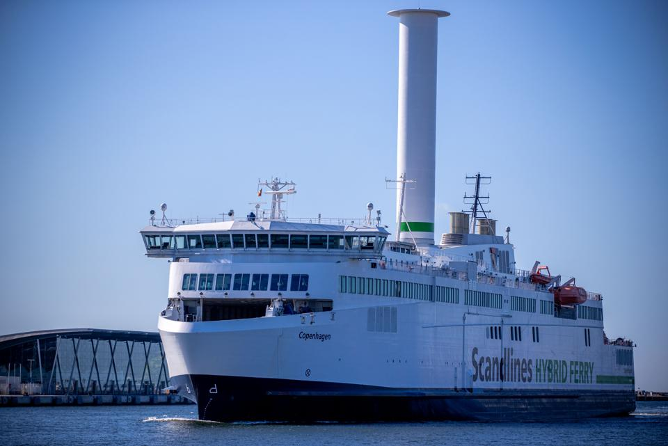 Scandlines ferry with rotor sail