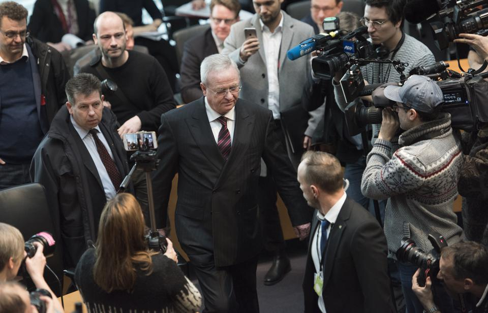 Former VW CEO Winterkorn Testifies In Bundestag Hearings Over Emissions Scandal