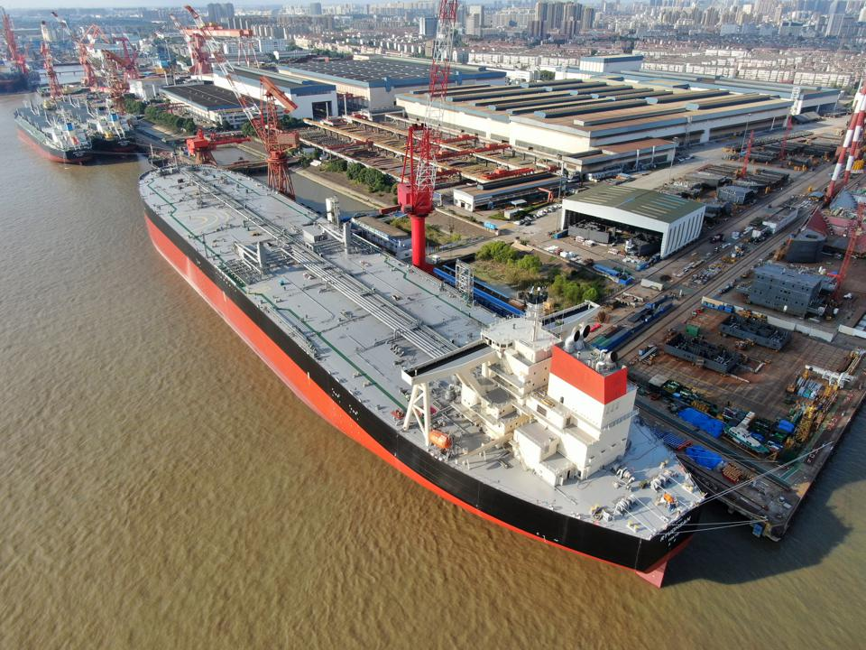 Oil Tanker Under Construction In Nantong
