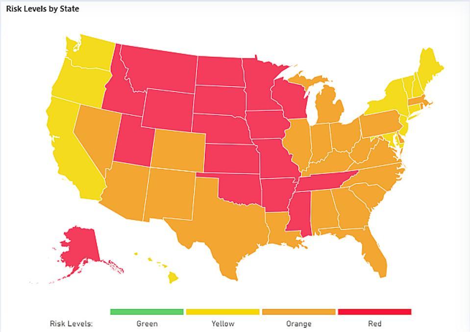 Covid-19 map US