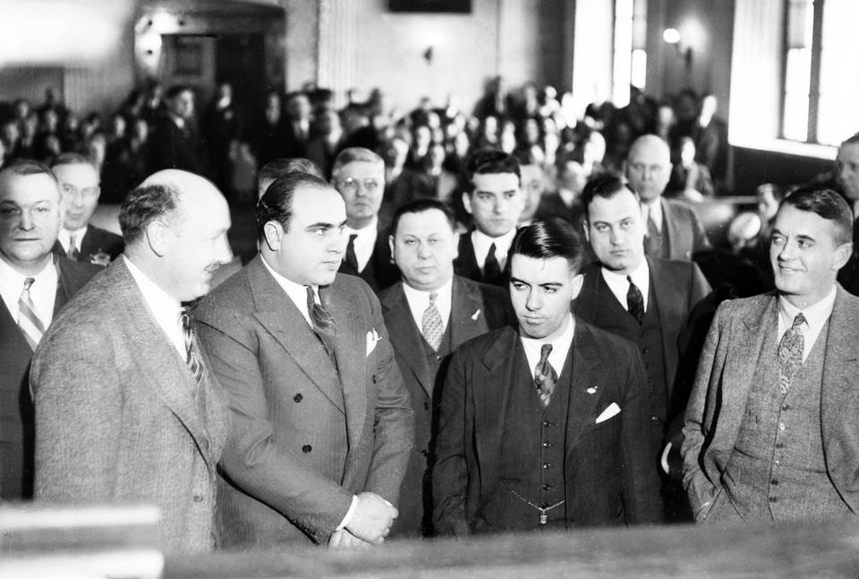 Capone In Court