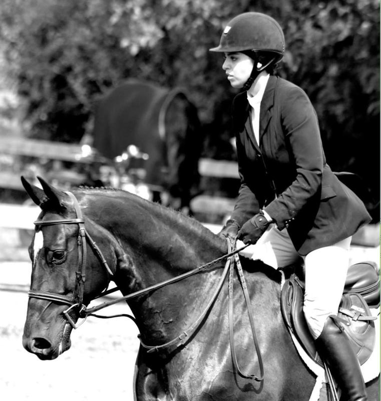 Elite Fashion Model and Social Media Influencer Billy Rora competing in an equestrian competition