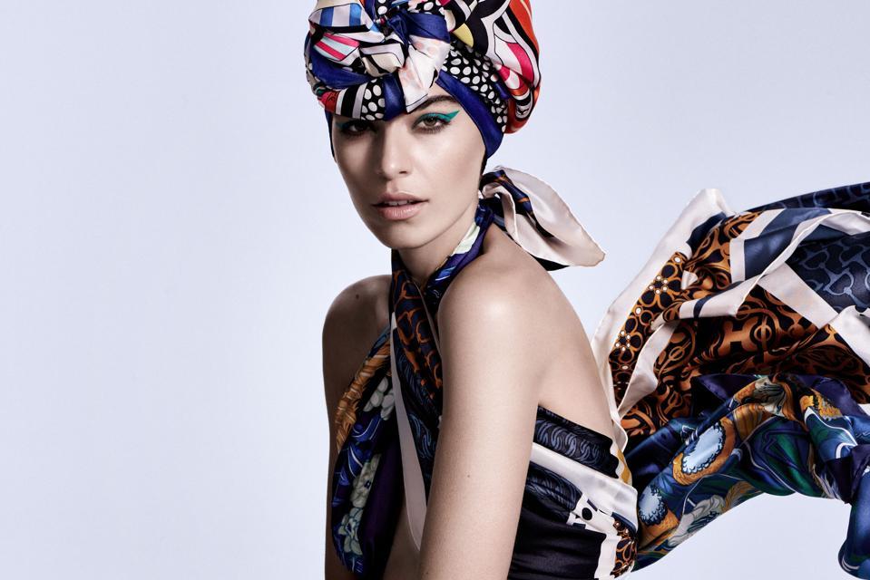 Hermès: Silk Scarves 2020. Model: Billy Arora