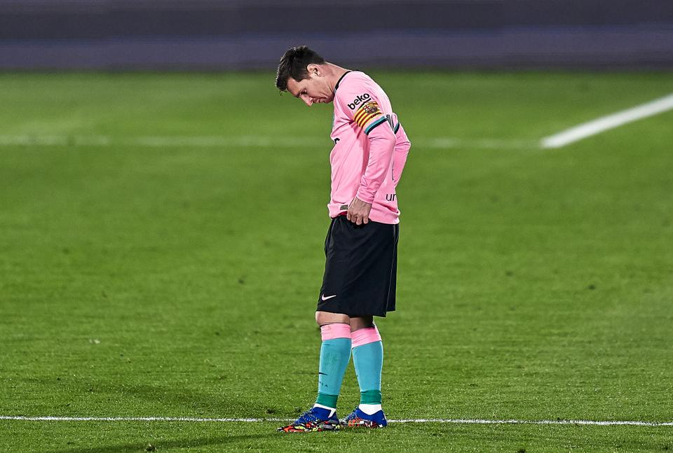 Barcelona were defeated 1-0 by Getafe on Saturday.