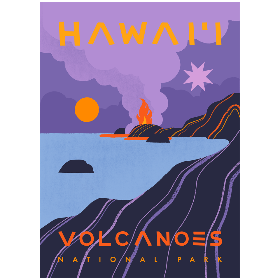 Poster for Hawai'i Volcanoes National Park