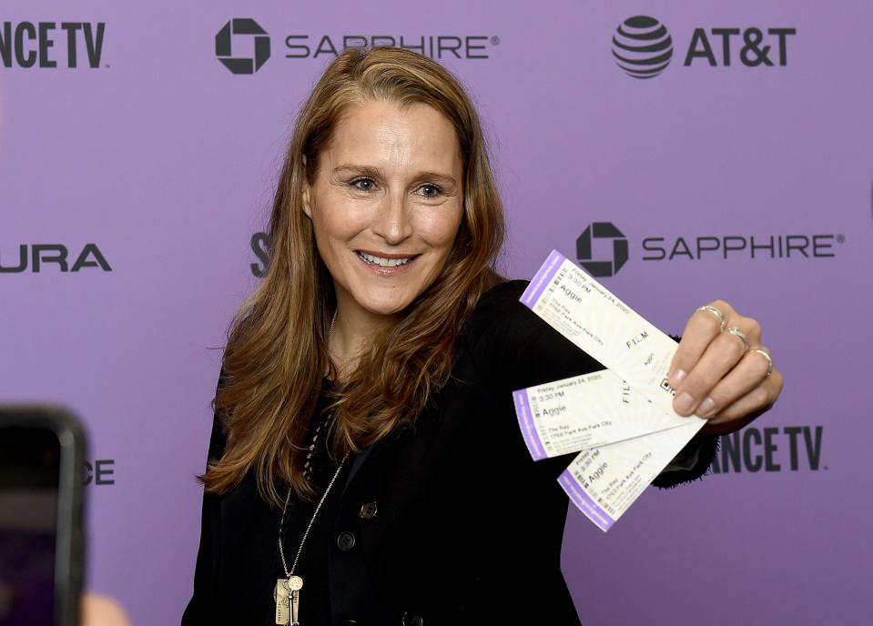 PARK CITY, UTAH - JANUARY 24: Catherine Gund attends the ″Aggie″ premiere during the 2020 Sundance Film Festival at The Ray on January 24, 2020 in Park City, Utah. (Photo by Ilya S. Savenok/Getty Images)
