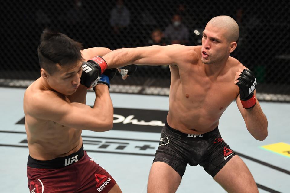 Brian Ortega defeated ″The Korean Zombie″ last night in the main event of UFC on ESPN+ 38.