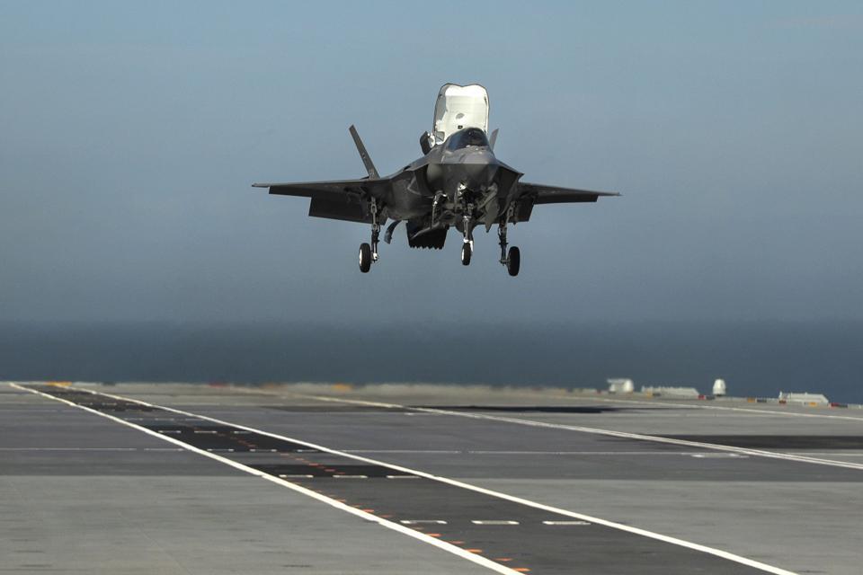 F-35B Fighter Jets Make Maiden Landings Onboard HMS Queen Elizabeth