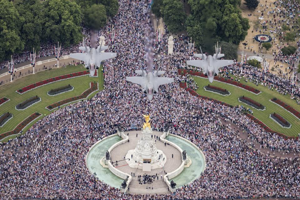 Centenary Parade And Flypast to Commemorate The Royal Air Force's 100th Birthday