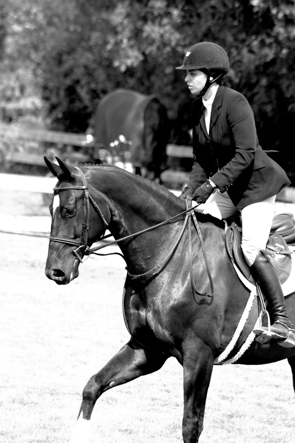Elite Fashion Model and Social Media Influencer Billy Arora competing in an equestrian competition