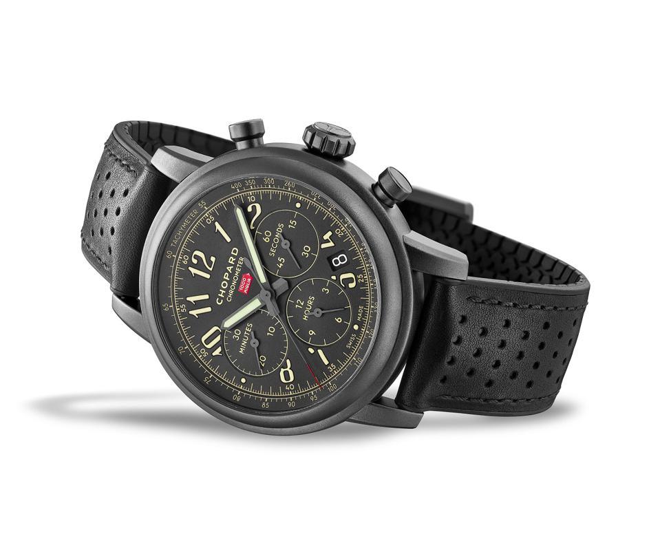 The Mille Miglia 2020 Race Edition in bead-blasted DLC-treated stainless steel