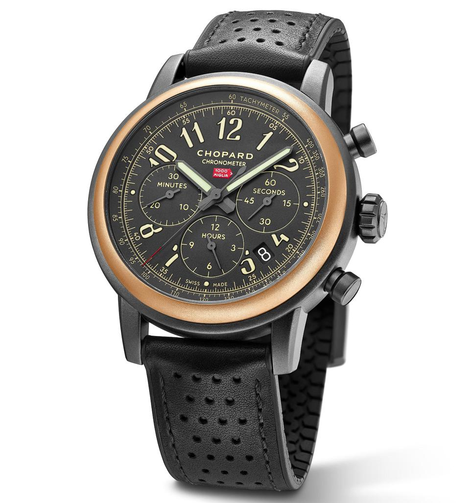 The Mille Miglia 2020 Race Edition with a bezel made of ethical 18k rose gold