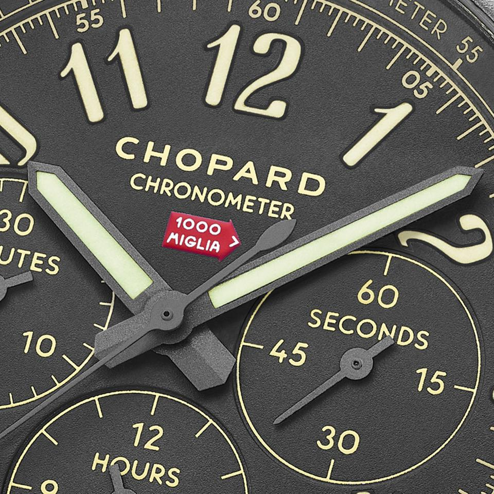 """The Mille Miglia 2020 Race Edition with the """"1000 Miglia"""" red arrow logo at 12 o'clock"""