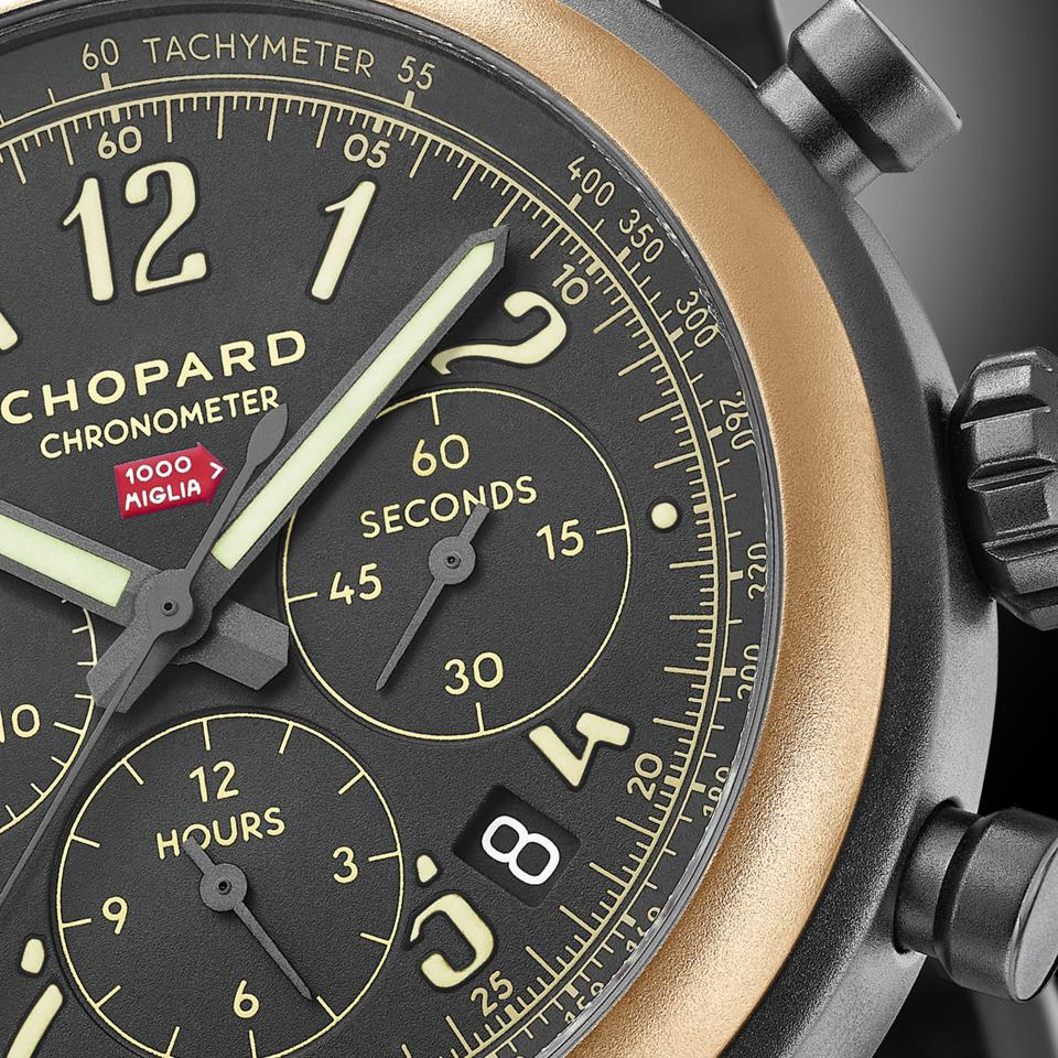 The Mille Miglia 2020 Race Edition with black-varnished dial and date window