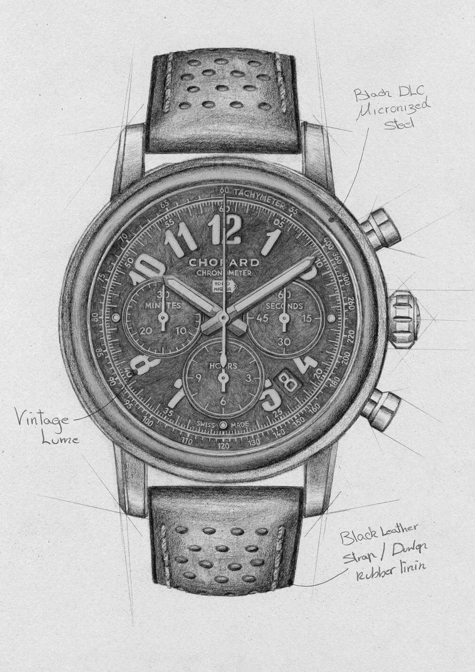 A sketch of the The Mille Miglia 2020 Race Edition