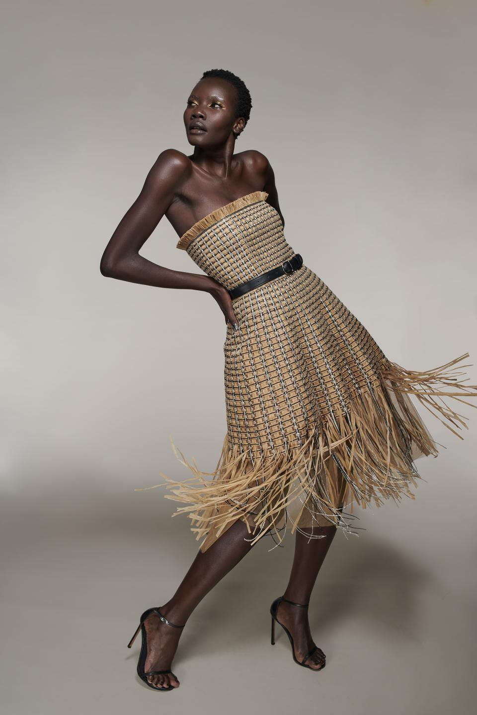 Raffia dress by LBV