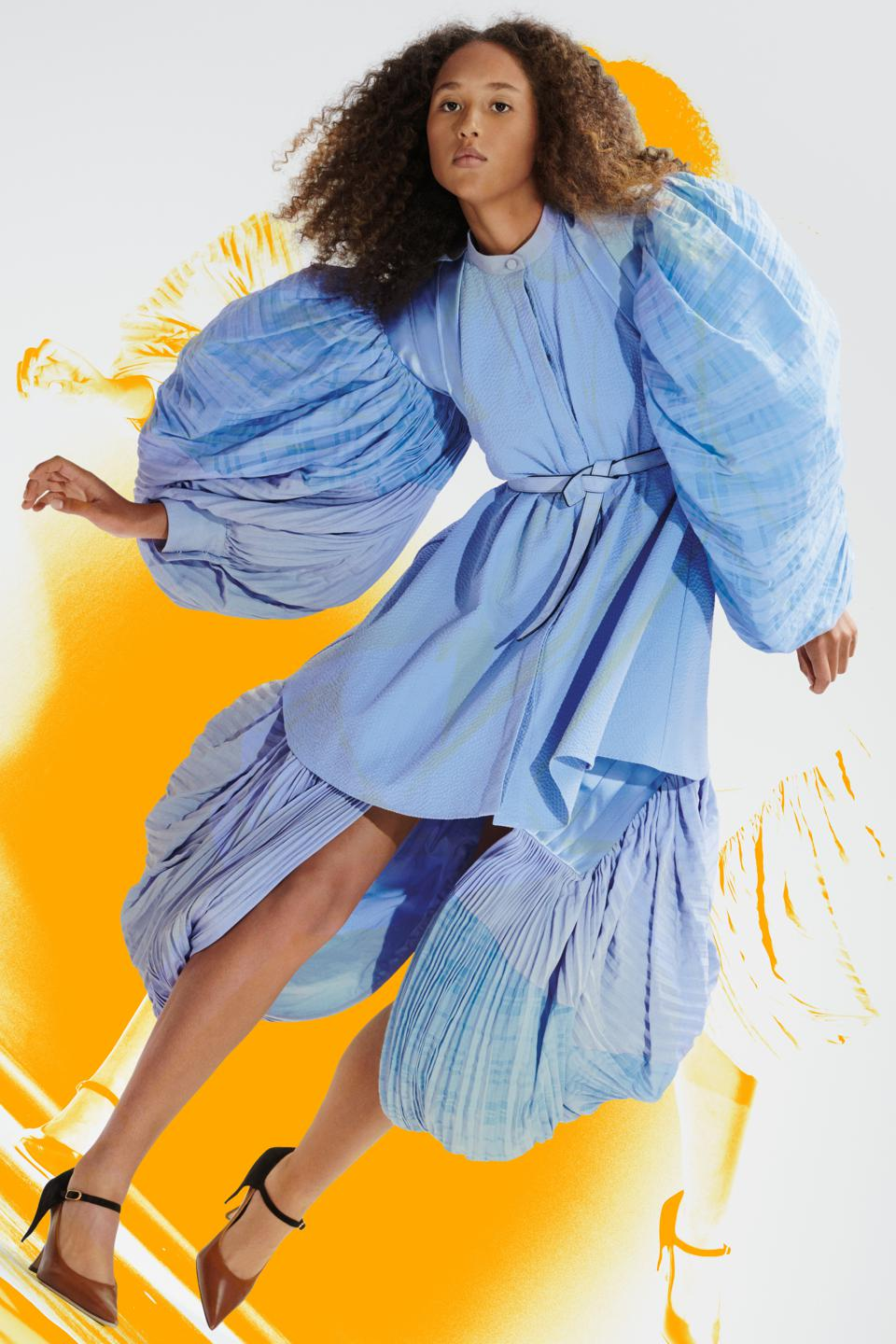 LOEWE Women's Dress from the Spring Summer 2021 Collection with Balloon Sleeves